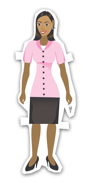 african-american business woman dressed in corporate attier smiling
